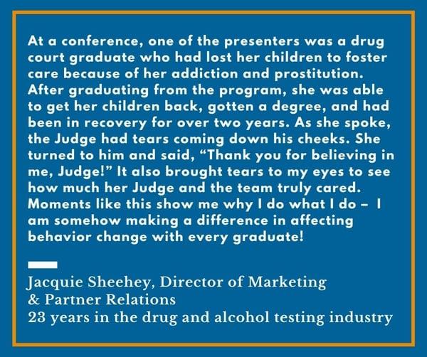 Jacquie Sheehey- Drug Court Appreciation Month